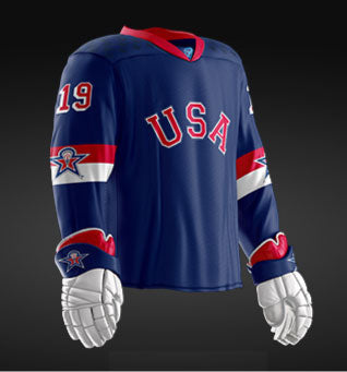 United States 2019 World Junior - Replica Jersey (Blue)