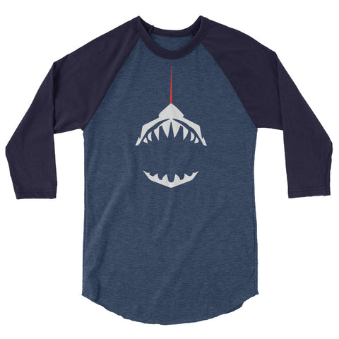 Lasersharks 3/4 sleeve raglan shirt