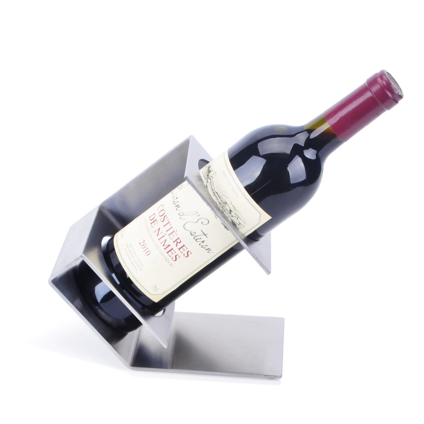 support bouteille de vin design