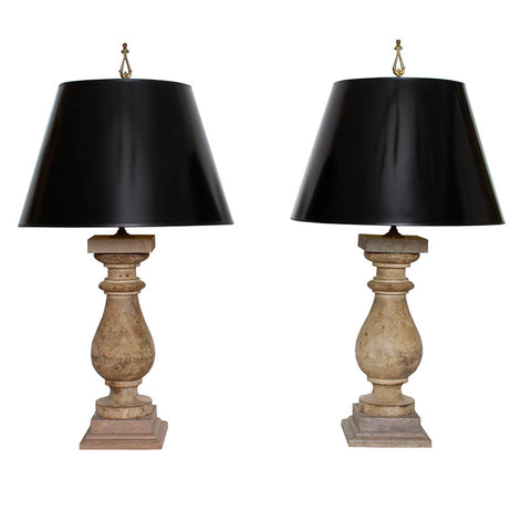 Pair of Vintage Baluster Lamps