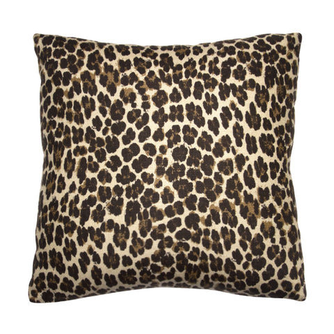 Clarence House Brown Leopard Linen
