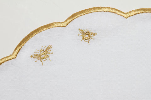 Embroidered Golden Bees