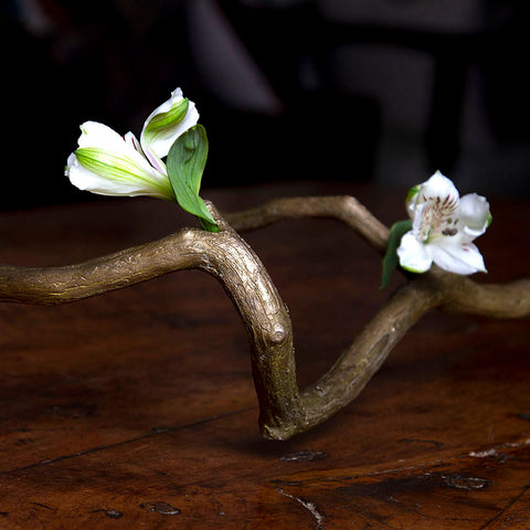 Bronze Branch Bud Vase