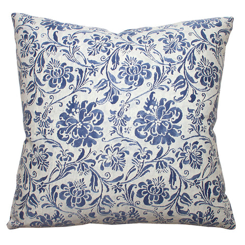 Fortuny 'Cimarosa' Blue and White Cotton