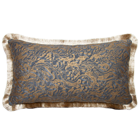 Fortuny Leopardi Indigo and Gold Cotton