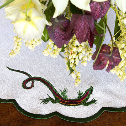 Embroidered Emerald Lizard