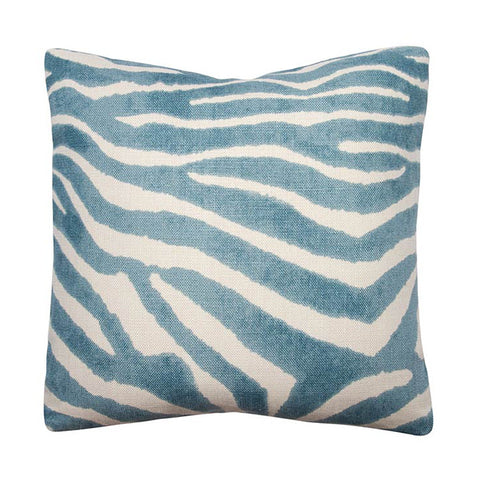 Clarence House Teal Zebra Linen
