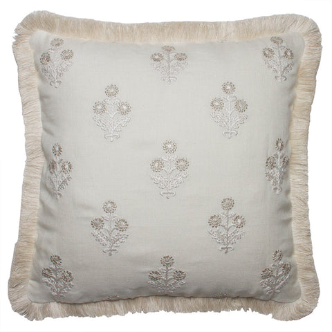 Clarence House Olivia Cream Embroidered Linen