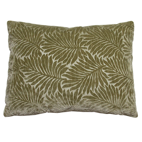 Pierre Frey Embossed Palm Leaves in Sage