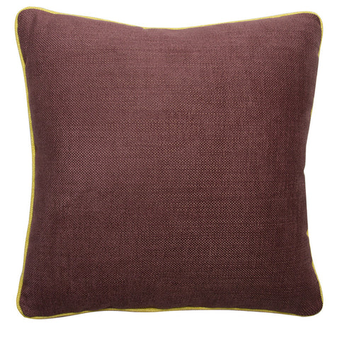 Clarence House Vista Plum and Citron Cotton