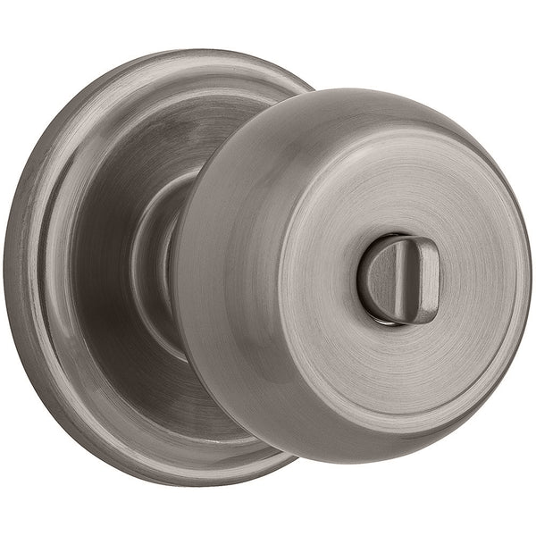 Stafford Push Pull Rotate Bed / Bath door knob in Satin Nickel