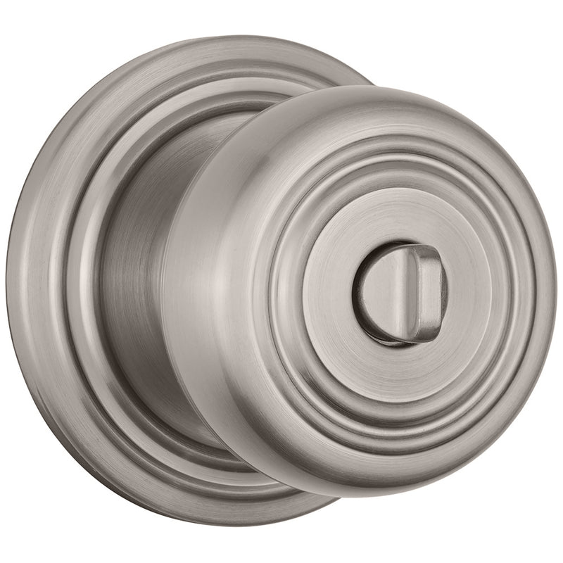 Webley Push Pull Rotate Bed / Bath door knob in Satin Nickel