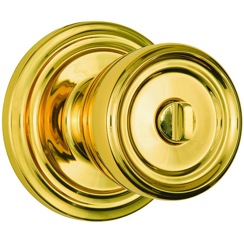 Barrett Push Pull Rotate door knob bed / bath polished brass