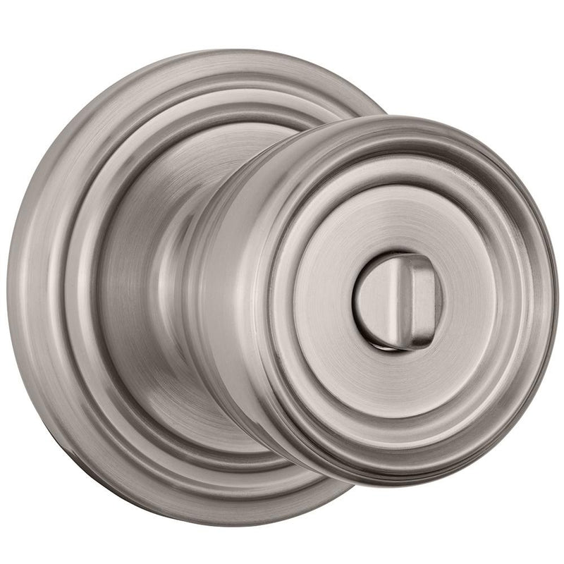 Barrett Push Pull Rotate door knob bed / bath satin nickel