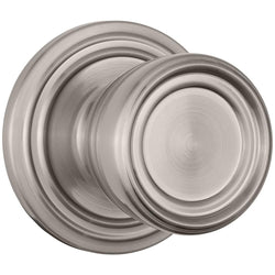 Barrett Push Pull Rotate door knob hall / closet satin nickel