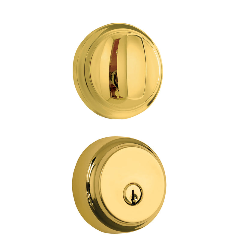 Brinks Push Pull Rotate Almarrion Deadbolt Polished Brass