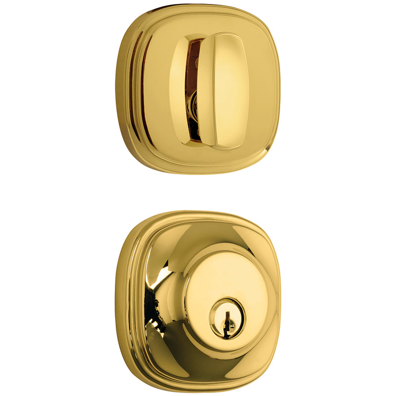 Weldon deadbolt in Polished Brass