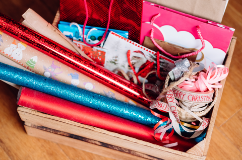 gift wrap and bags