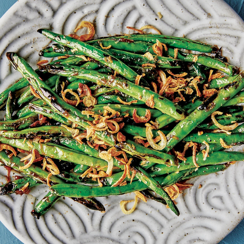 Blistered Green Beans with Fried Shallots