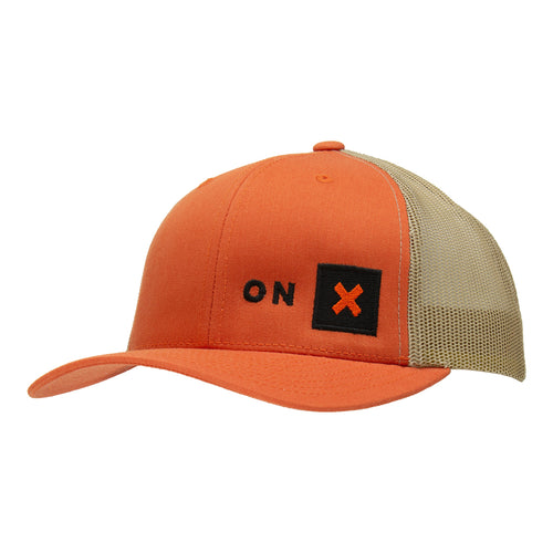 Classic Trucker Snapback Hat | Rustic Orange