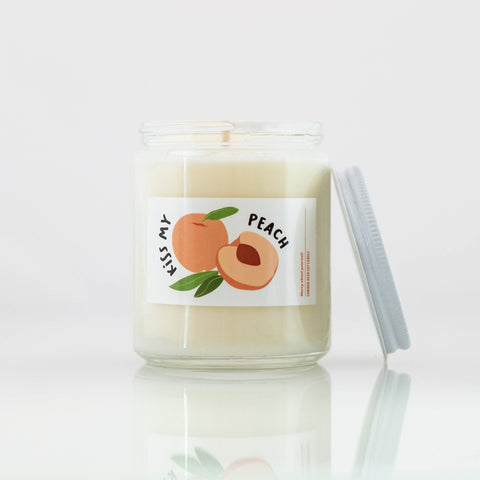 Kiss My Peach Handmade Soy Candle