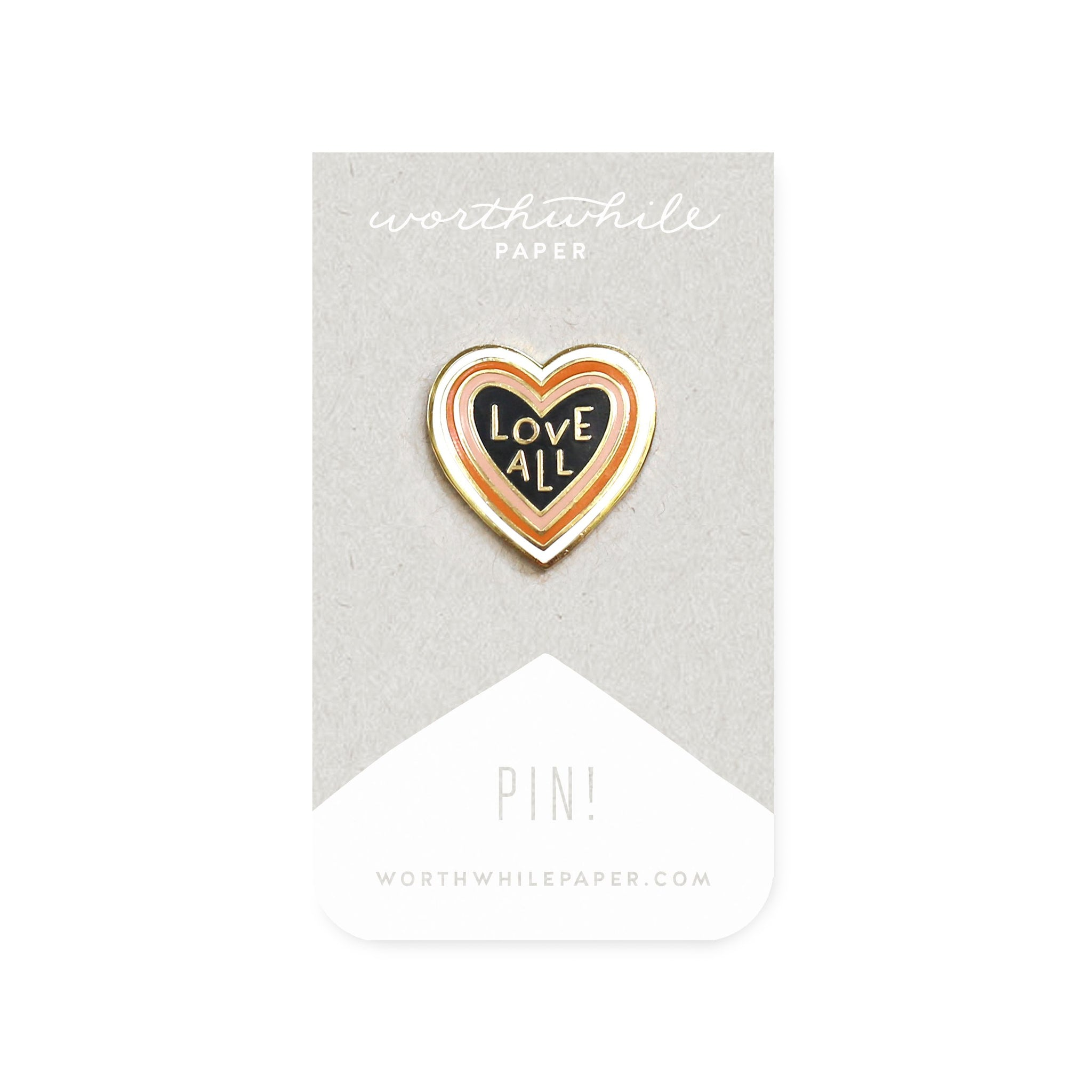 Love All Heart Shaped Enamel Pin