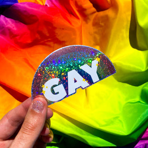 Gay Glitter Sticker