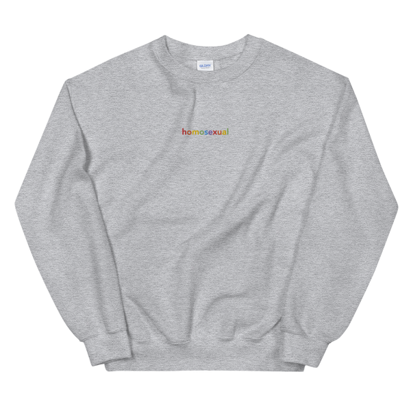 Homosexual Embroidered Sweatshirt