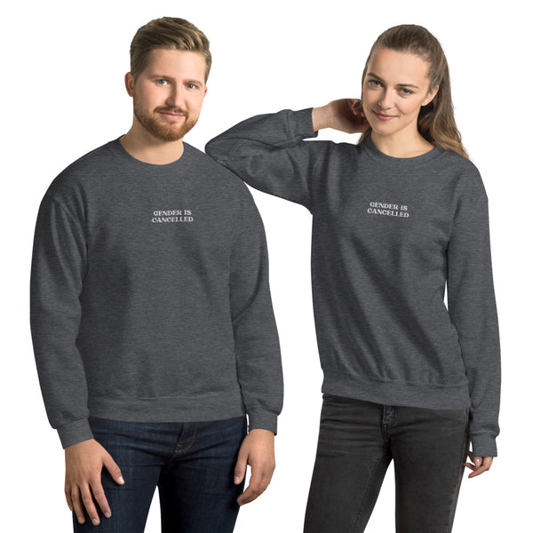 Gender is Cancelled Embroidered Sweatshirt