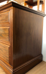 Antique Georgian Mahogany Mirrored Dresser - Unique Home Pieces
