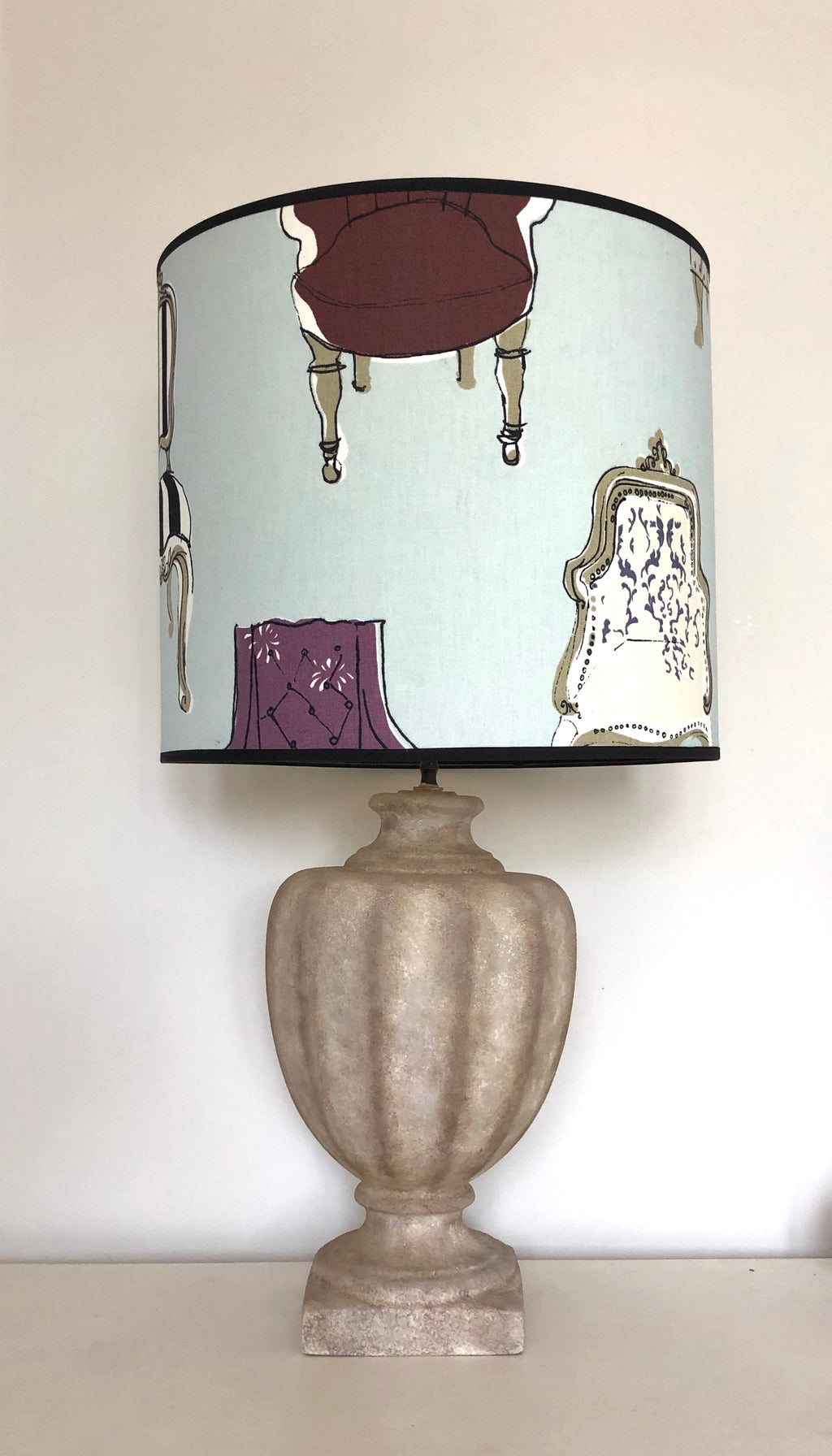 Faux stone Hand Painted Lamp - Refurbished - Unique Home Pieces