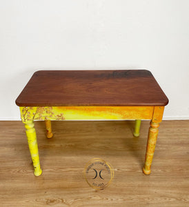 Rectangular Red Wood Console Table Hall Table Side Table Occasional Table - Unique Home Pieces