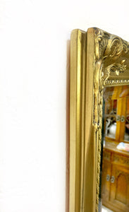 Rectangular Full Length Gold Bevel Glass Mirror - Unique Home Pieces