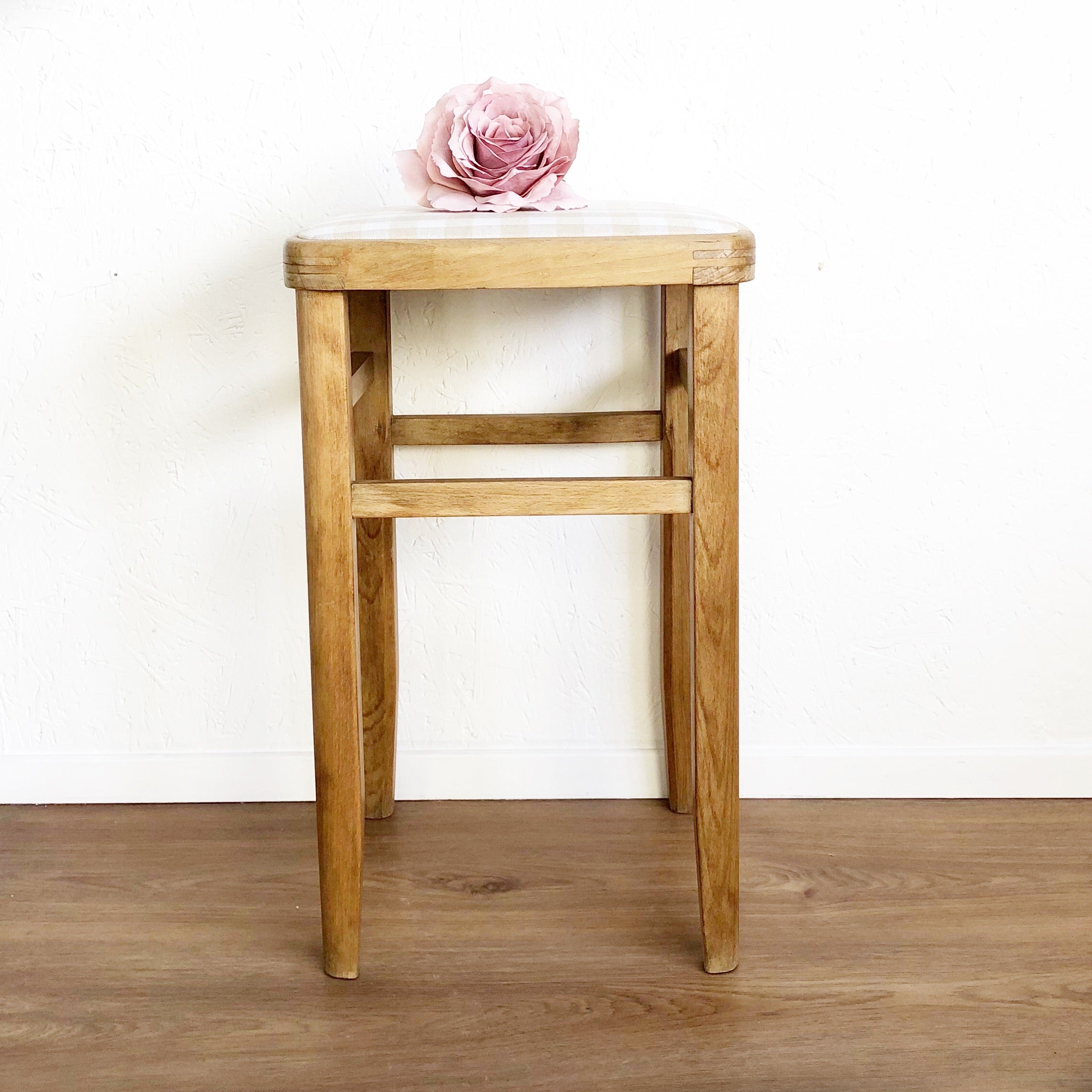 Vintage kitchen Wooden stool - Unique Home Pieces