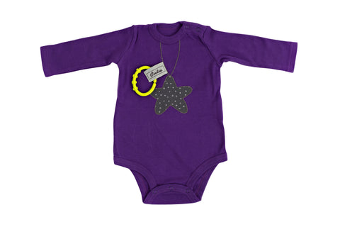 """Shining Star"" purple bodysuit"