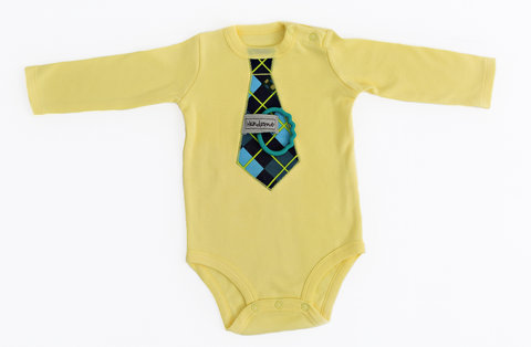 """Lil Buddy"" yellow bodysuit"
