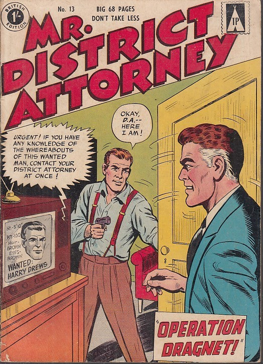 FL- MR. DISTRICT ATTORNEY N.13 -- BRITISH EDITION - 1967 - B - PBX