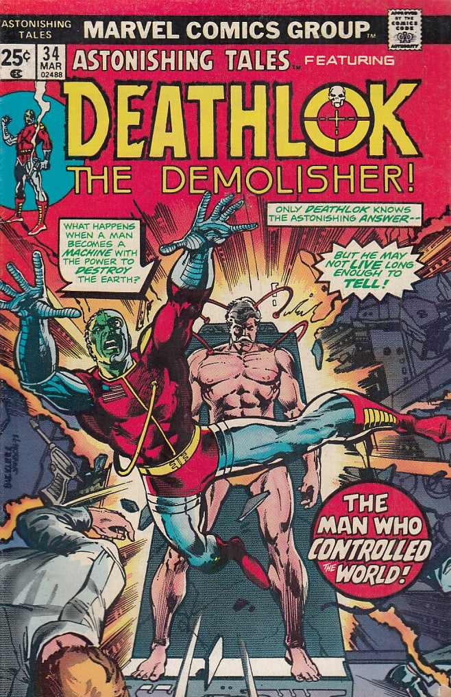 FL- DEATHLOK N.34 THE DEMOLISHER -- MARVEL COMICS USA - 1973 - S - PCX