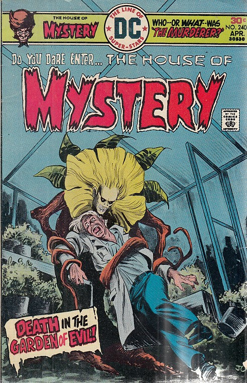 FL- THE HOUSE OF MYSTERY N.240 -- DC COMICS USA - 1976 - S - PCX
