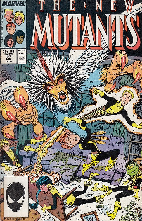 FL- NEW MUTANTS N.57 OTTIMO -- MARVEL COMICS USA - 1987 - S - PLX