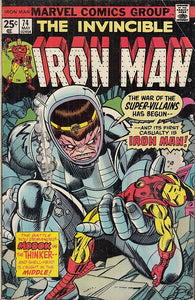 FL- THE INVINCIBLE IRON MAN N.74 -- MARVEL COMICS USA - 1975 - S - PRX