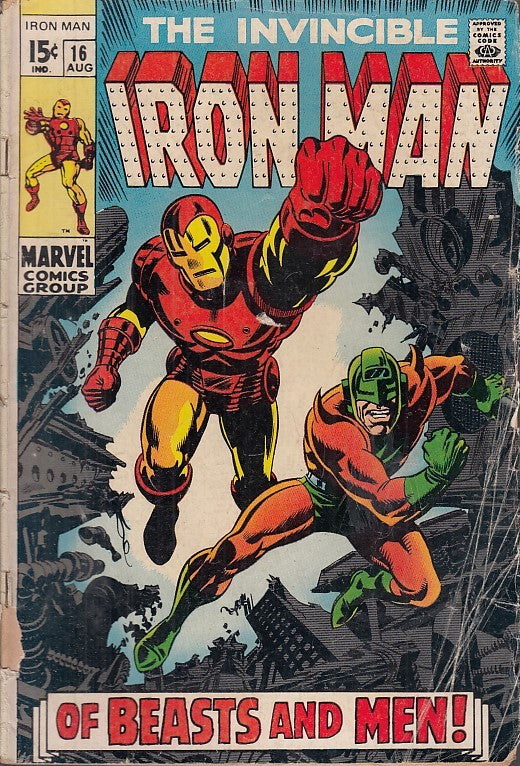 FL- THE INVINCIBLE IRON MAN N.16 -- MARVEL COMICS USA - 1969 - S - PRX
