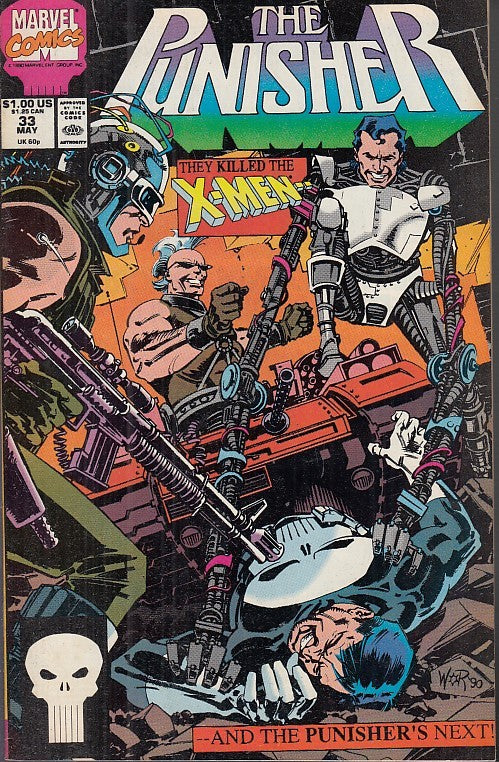 FL- THE PUNISHER N.33 IN LINGUA ORIGINALE -- MARVEL COMICS USA - 1990 - S - NQX