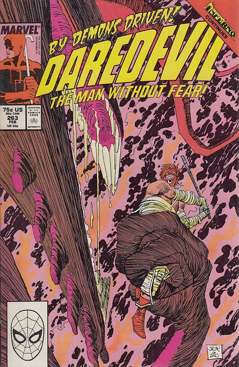 FL- DAREDEVIL N.263 THE MAN WITHOUT FEAR -- MARVEL COMICS USA - 1989 - S - NQX