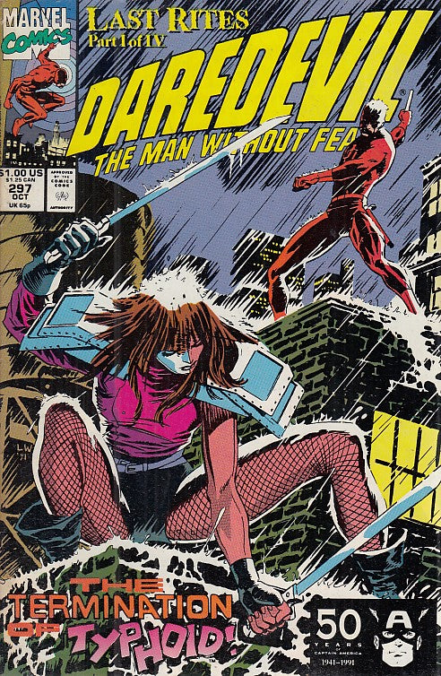 FL- DAREDEVIL N.297 THE MAN WITHOUT FEAR -- MARVEL COMICS USA - 1991 - S - NQX
