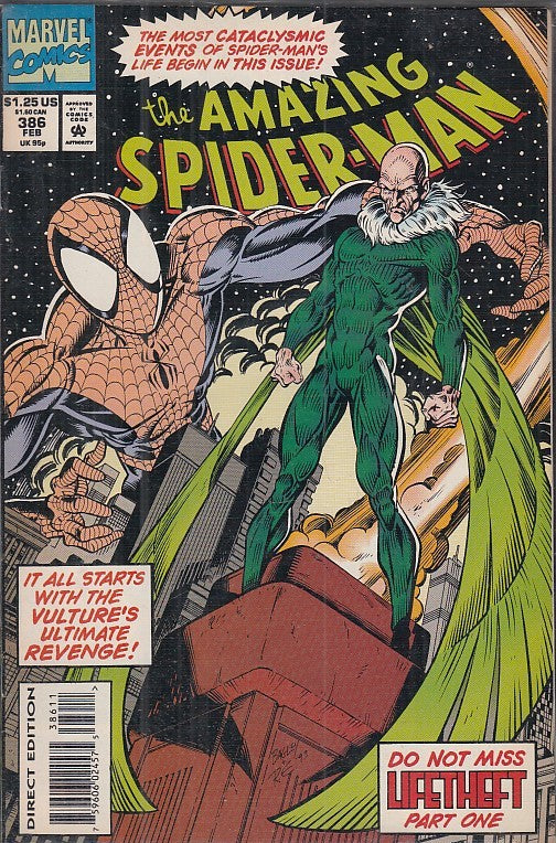 FL- THE AMAZING SPIDER-MAN 386/388 LIFETHEFT -- MARVEL COMICS USA - 1994- S- PQX