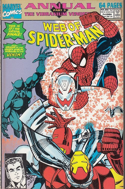 FL- WEB OF SPIDER-MAN ANNUAL 7 -- MARVEL COMICS USA - 1991 - B - PRX