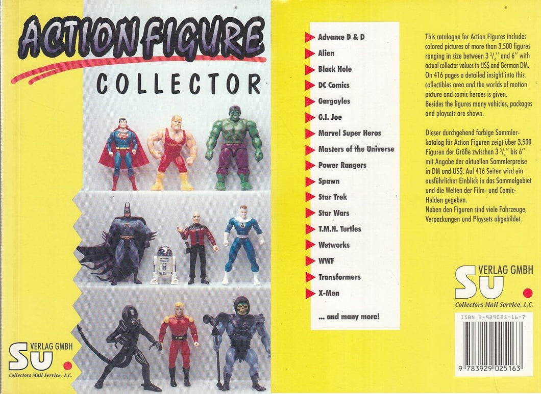 LZ- ACTION FIGURE COLLECTOR ALIEN DC MARVEL-- VERLAG GMBH SU--- 1997- B- ZDS528