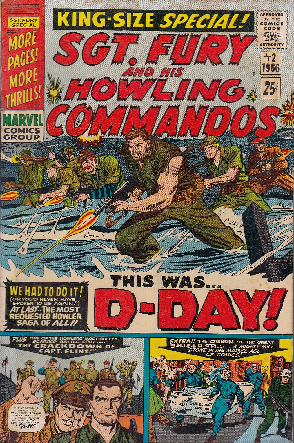 FL- SGT. FURY AND HIS HOWLINGS COMMANDOS N.2 -- MARVEL USA - 1966 - B - PBX132