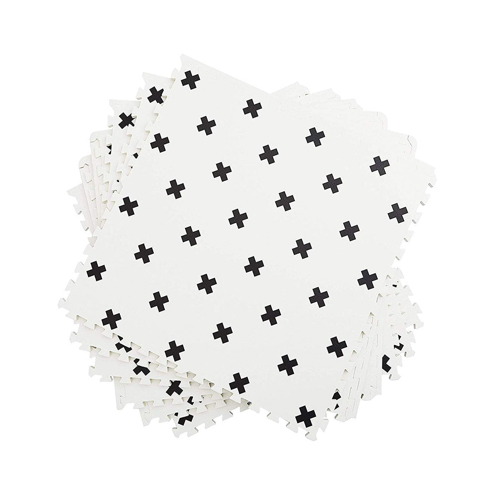 Brooklyn Cross Black and White Play Mat